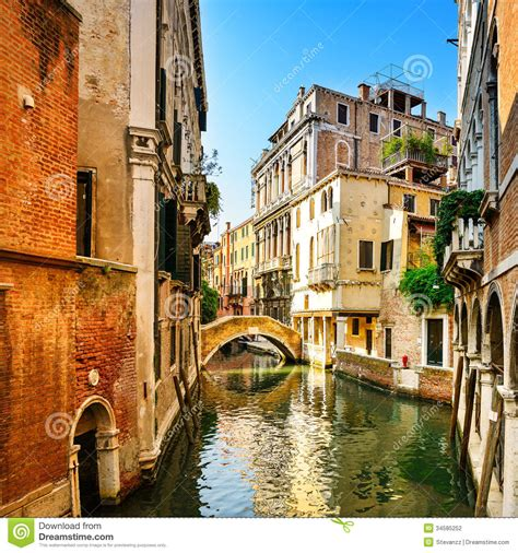 italy architecture photograph by bob coates venice cityscape buildings water canal and bridge italy