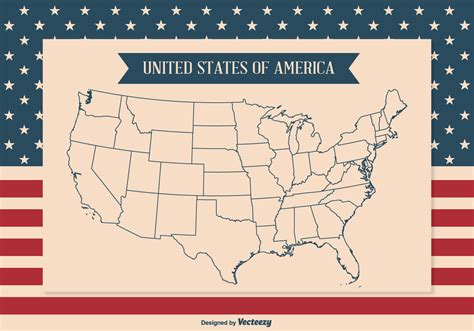 us map vector outline ai united states map outline illustration free