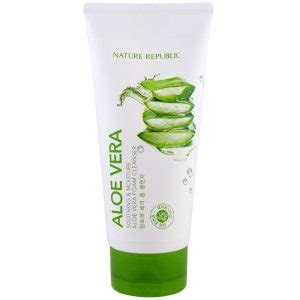 Harga Nature Republic Aloe Vera Soothing Moisture Cleansing Gel Foam 10 produk nature republic di indonesia i review kegunaan