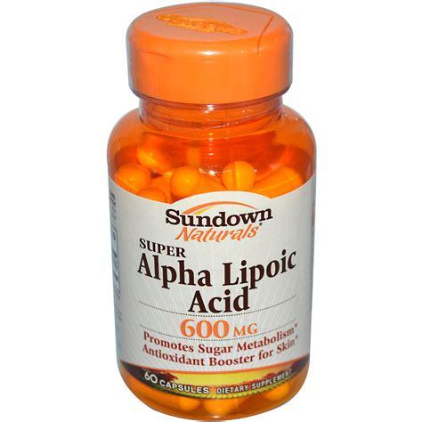k supplement 600 mg sundown naturals alpha lipoic acid 600 mg 60