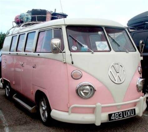 van volkswagen pink pink vw bus rides pinterest