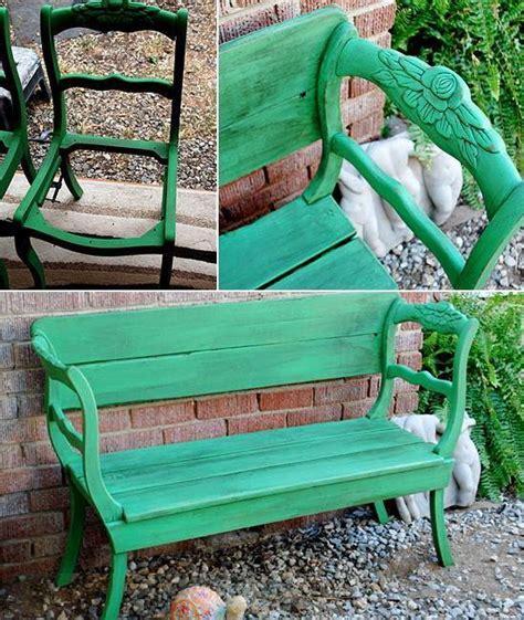 unusual garden benches diy bench from broken chairs home design garden