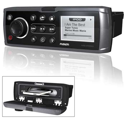 fusion boat stereo review fusion ms ip600g marine stereo w built in ipod dock