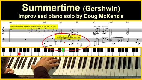 Tutorial Piano Summertime | summertime jazz piano tutorial youtube
