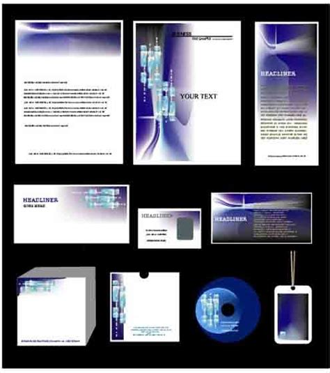 corporate identity kit cover vector set free vector in encapsulated postscript eps eps