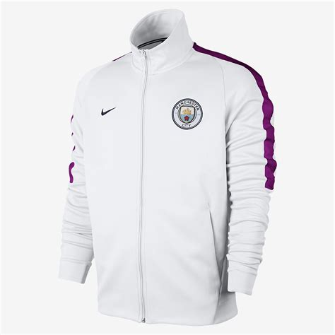 nike manchester city fc football jacket clothes hoodies sporting goods sil lt