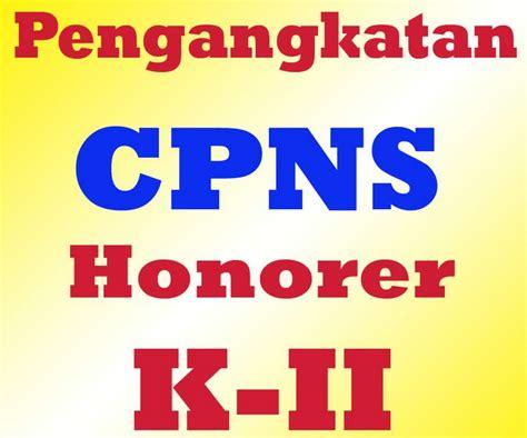pengangkatan honorer k2 menjadi cpns tanpa tes ini