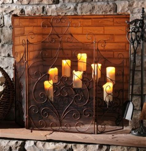 candle fireplace screen the world s catalog of ideas
