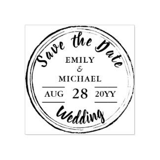 custom save the date rubber sts rubber sts self inking sts zazzle co uk