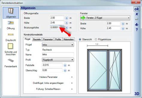 Darstellung Fenster Ansicht by Fenster Oder T 252 Re In 3d Nicht Sichtbar Hausplanung Software