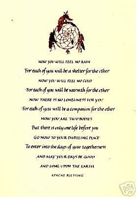 apache indian wedding blessing native american sayings blessings prayers native