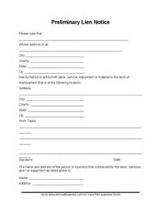 notice of lien letter template sle preliminary lien notice hashdoc