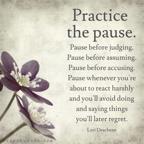 Pause The practice the pause tiny buddha
