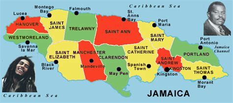 printable map of jamaica with parishes picture of jamaica map with parishes and capital
