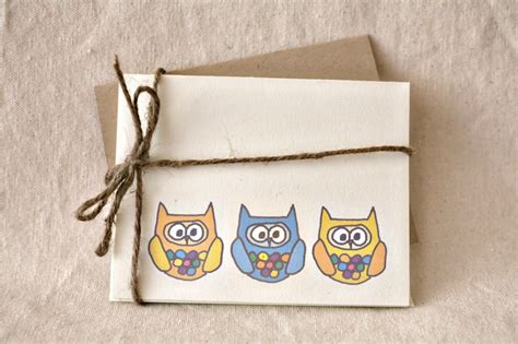 Handmade Crafts To Sell Ideas - owl greeting cards and crafty home office solutions