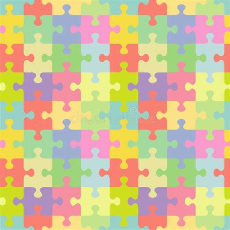 abstract jigsaw pattern seamless jigsaw puzzle pattern stock vector illustration