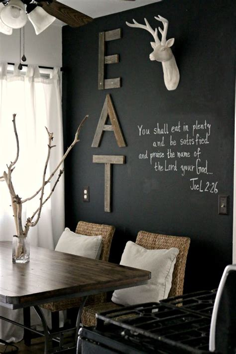 kitchen dining room wall decor how to creatively use chalkboard paint around the house