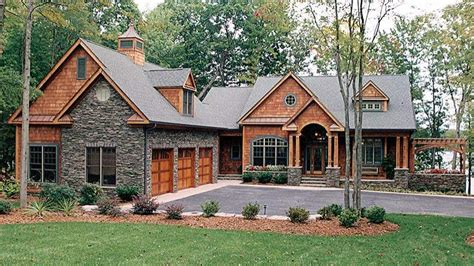 lake house plans with walkout basement craftsman house walkout basement house plans for lake 9882 beautiful