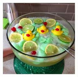 lime sherbet punch recipe rubber ducky baby shower idea