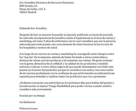 Exemple De Lettre En Espagnol Lettre De Motivation En Espagnol Pour Une Offre D Emploi Exemples De Cv