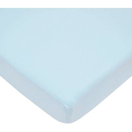 tl care 100 percent cotton jersey knit crib sheet blue