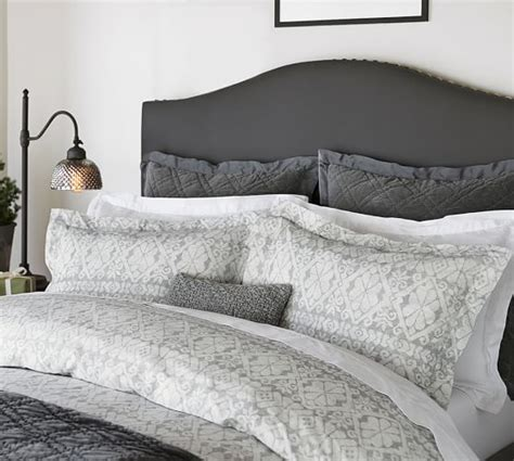 pottery barn raleigh bed raleigh upholstered nailhead camelback tall bed