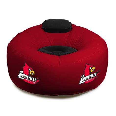 louisville bedding louisville cardinals ncaa college vinyl inflatable chair w