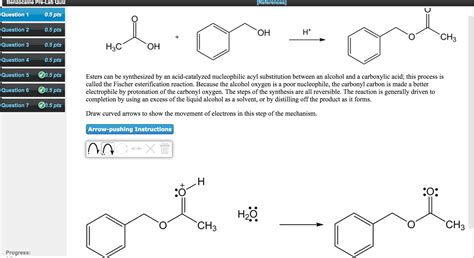 hydration quiz questions solved esters can be synthesized by an acid catalyzed nuc
