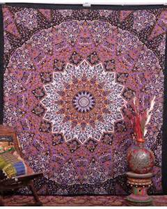 Boho Decorative Pillows Indian Star Tapestry Elephant Mandala Wall Hanging Queen