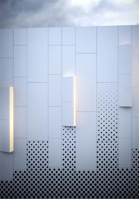 design pattern facade pure white hpl facades from kronoart add a modern touch