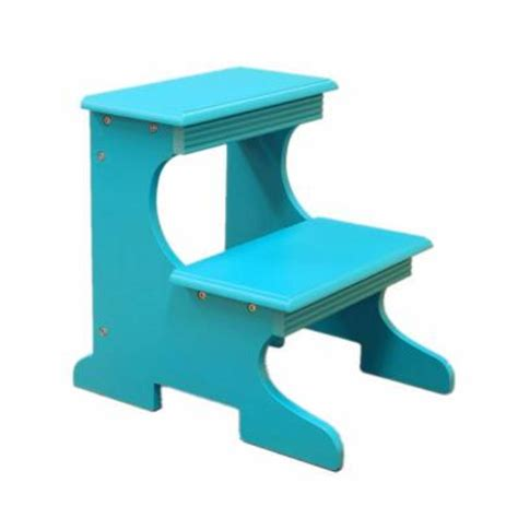 homecraft furniture home craft step stool in blue ss54 bu