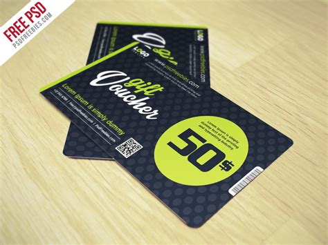 gift card design template psd clean and modern gift voucher template psd psdfreebies