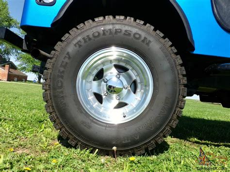 Jeep Cj7 Wheels And Tires 1980 Jeep Cj7 Vortec 350 V8 5 Speed 4 Wheel Disc Mickey