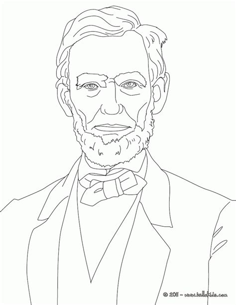 abraham lincoln coloring pages printable coloring home