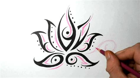 quick tattoo designs simple flower drawing ideas lotus flower tattoos