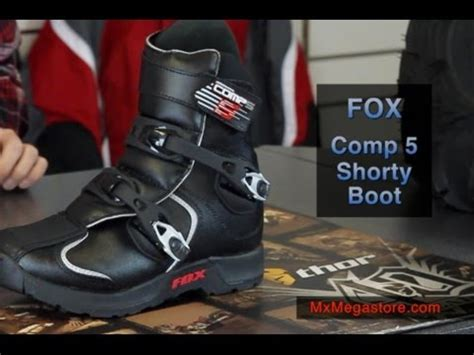 shorty motocross boots 2014 fox comp 5 shorty dirt bike atv boot review by
