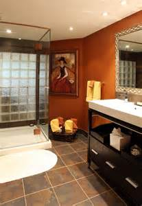 Bathroom Orange Colors Bathroom Decorating Ideas Archives The Colorful Beethe