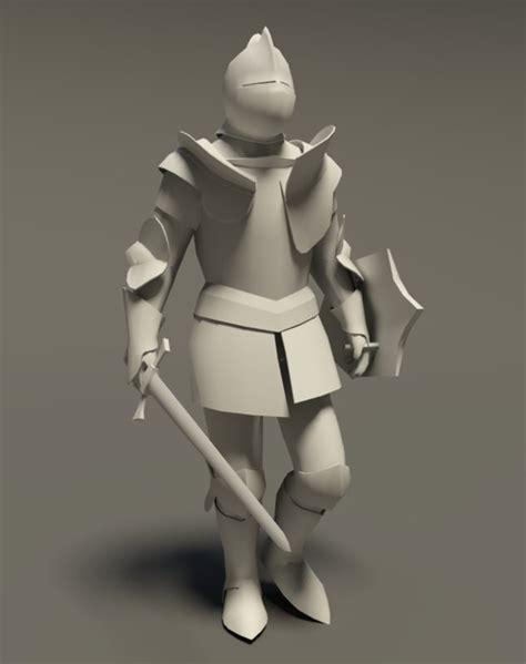 blender tutorial armor 3ds max medieval knight rigged cat