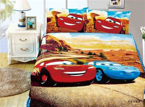 Lightning Mcqueen Bedding Set Lightning Mcqueen Cars Comforter Bedding Sets Single Size Quilt Duvet Covers Sheets Cotton