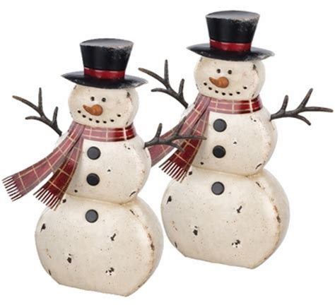 Snowman Decor by 18 Quot Rustic Snowman Decor Set Of 2 Only 99 99 At Garden