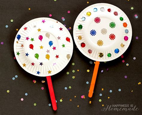 new year craft ideas for babies paper plate shaker noisemakers for new years