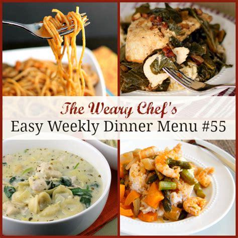 easy weekly dinner menu 55 tasty meals made easy - Easy Dinner Menus For 4