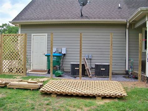backyard lattice structures screen to hide oil tank backyard inspiration