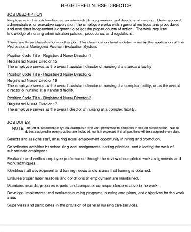 director of nursing description 9 director of nursing description sles sle
