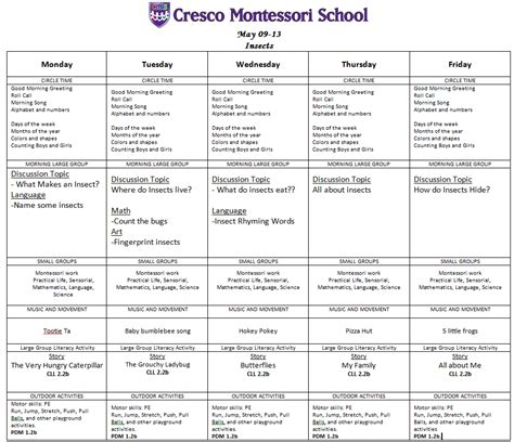 Montessori Lesson Plan Template by Montessori Lesson Plan Template Montessori Lesson Plan