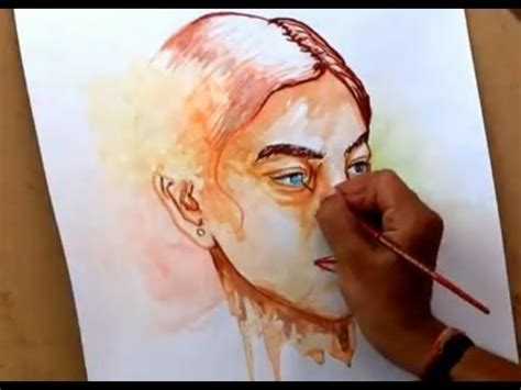 watercolor tutorial face simple watercolor portrait painting how to paint a