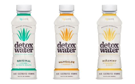 Detox Water Bioactive Aloe Water Peachberry by Detoxifying Aloe Water Detox Water