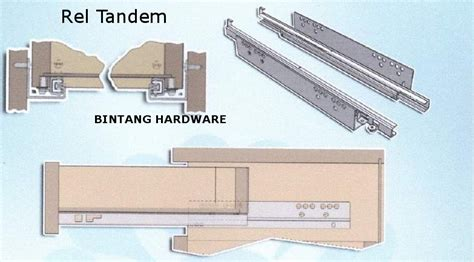 Rel Laci 50cm Huben Diskon rel laci tandem undermount concealed runner bintang hardware
