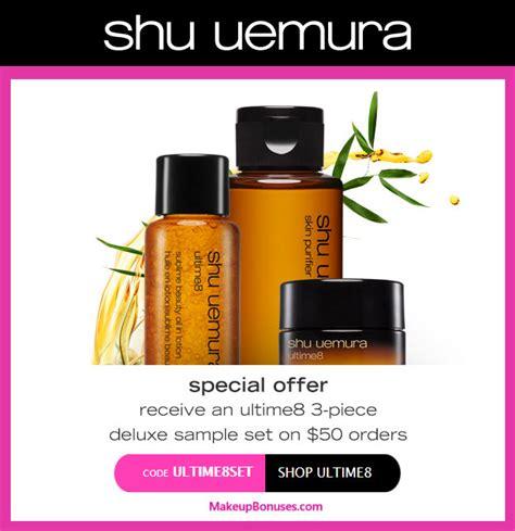 shu uemura 3 pc free gift with purchase makeup bonuses