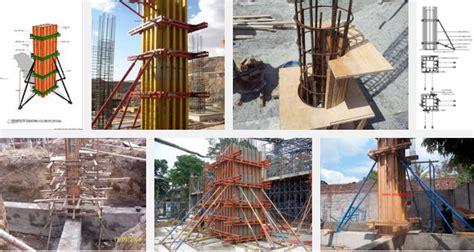 Minyak Bekisting bekisting untuk kolom beton metode pelaksanaan dan contoh